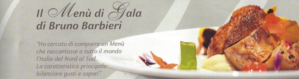 Il menu di gala in crociera è firmato da Barbieri