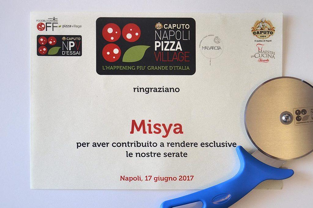 attestato pizza village