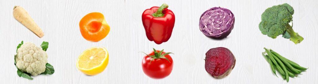 Proprietà di frutta e verdura in base ai colori