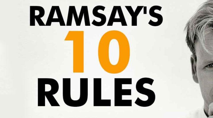 Cena al ristorante, ecco le regole di Gordon Ramsay