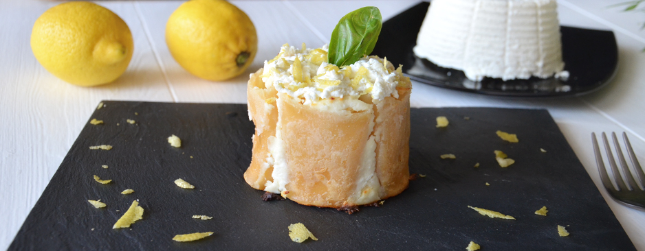 Paccheri con ricotta salata e limone