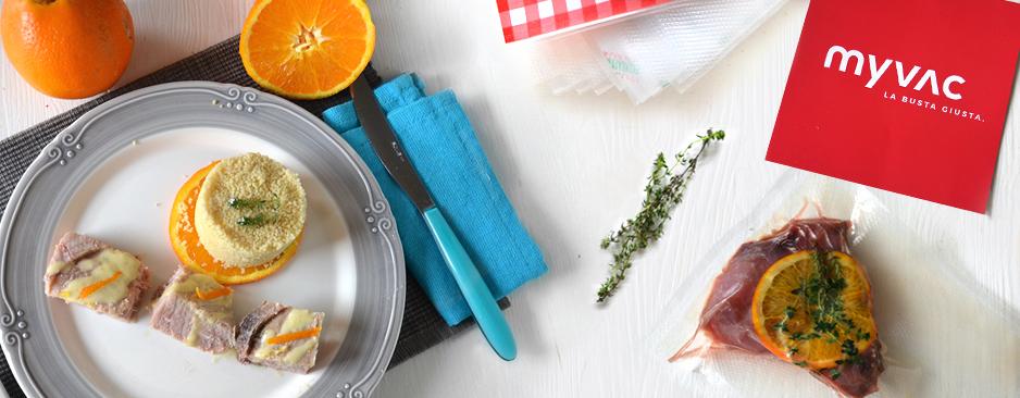 Tonno all'arancia con cottura sottovuoto