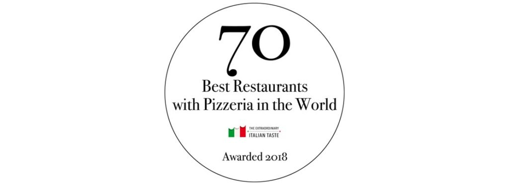 "Nasce il premio che non c'era ""70 best restaurants with pizzeria in the world"""