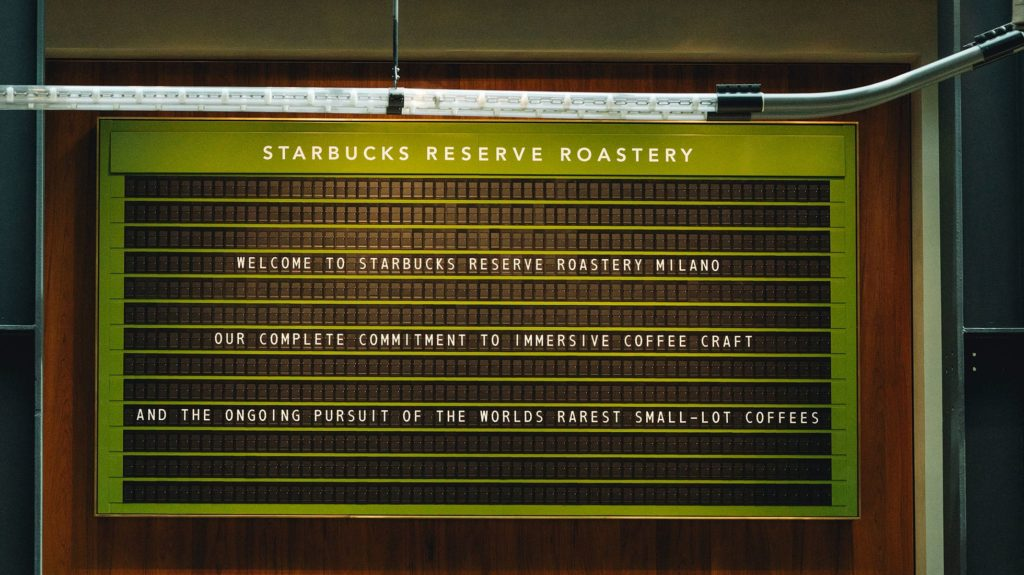 Menu Starbucks Milano