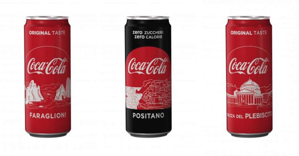 I tesori della Campania finiscono sulle Coca Cola: inizia la caccia al tesoro