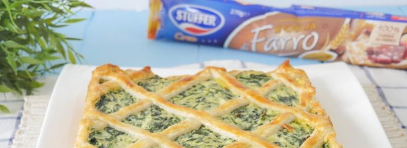 Crostata di pasta sfoglia con bietole