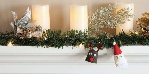 Come riciclare le capsule del caffè facendo decorazioni natalizie bellissime