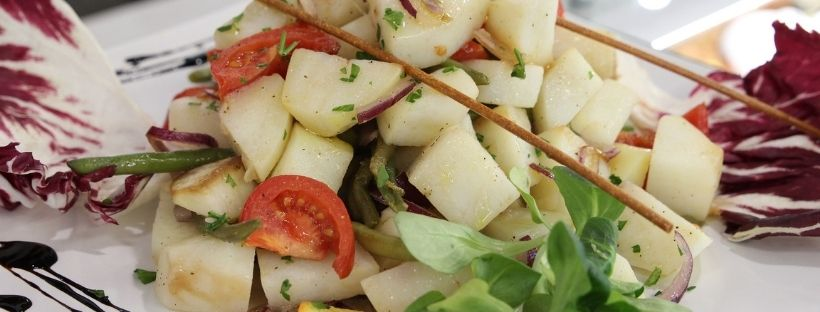 Insalata fredda di patate e fagiolini con aceto balsamico